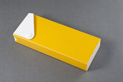 Pencil Box on Gray Background. Stock Image