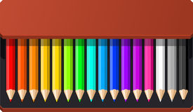 Pencil box Royalty Free Stock Images