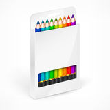 Pencil boxes Color vector illustration Stock Photos