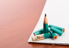 Pencil broke into pieces Stock Image
