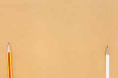 Pencil on brown background Stock Image