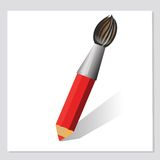 Pencil and brush Royalty Free Stock Photo