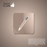 Pencil Button on the Background Royalty Free Stock Photo