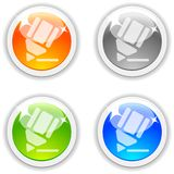 Pencil buttons. Stock Image