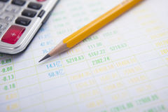 Pencil calculator and charts. Eastphoto, tukuchina, Pencil calculator and charts, Still life Royalty Free Stock Photography