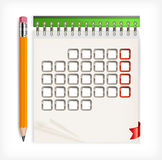 Pencil & calendar Stock Images