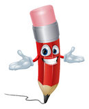 Pencil cartoon character Royalty Free Stock Photos