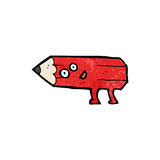 pencil cartoon character Stock Images