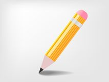 Pencil cartoon. Pencil isolated on white. This is file of EPS10 format Stock Photography