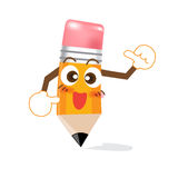 Pencil Cartoon showing thump up 002 Royalty Free Stock Images