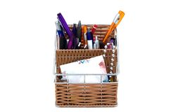 Pencil case. A pencil case full of pencils Royalty Free Stock Images