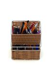 Pencil case. Full of pencils Royalty Free Stock Photo