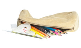 Pencil case Royalty Free Stock Image