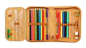 Pencil case Stock Image