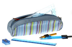 Pencil case royalty free stock photo