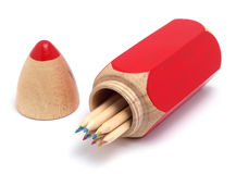 Pencil Case And Pencils Royalty Free Stock Photo