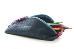 Pencil case Royalty Free Stock Images