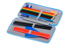 Pencil case close up Stock Photo
