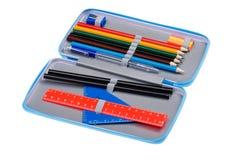 Pencil case close up Stock Photo