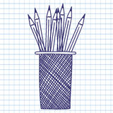 Pencil case Stock Photography
