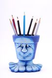 Pencil case figure Royalty Free Stock Photography