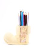 Pencil case figure Royalty Free Stock Images