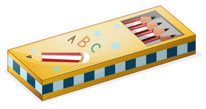 A pencil case. Illustration of a pencil case on a white background vector illustration