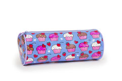 A pencil case isolated against a white background Stock Photo
