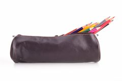 Pencil case isolated Stock Images