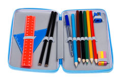 Pencil case macro Royalty Free Stock Photos