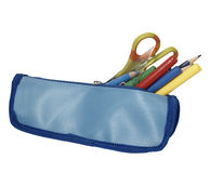 Pencil case school education Stock Images