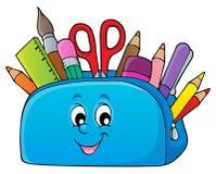 Pencil case theme image 2 Stock Image