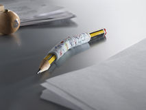 Pencil in cast 02 Stock Images