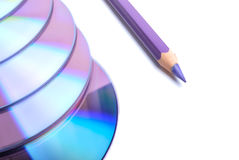 Pencil and CD Royalty Free Stock Images