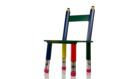 Pencil Chair on White Background Royalty Free Stock Image