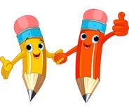 Pencil Characters Royalty Free Stock Image
