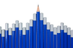 Pencil chart Royalty Free Stock Photo