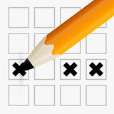 Pencil Check Option Illustration Royalty Free Stock Photography