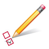 Pencil with checklist Stock Photos