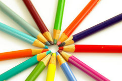Pencil circle stock image