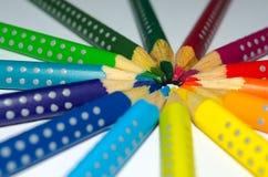 Pencil circle Royalty Free Stock Images