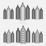 Pencil - city version in black and white style Royalty Free Stock Photography