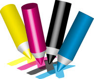 Pencil cmyk Stock Photos