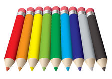 Pencil collection colored Royalty Free Stock Photo