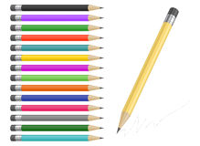 Pencil collection Stock Photography