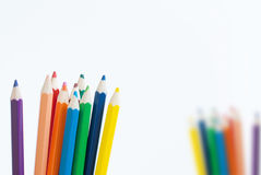Pencil color art concept background empty for text or your copy. With white background Royalty Free Stock Photos