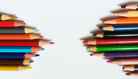 Pencil color art. Pencil color for design art and painting Royalty Free Stock Image