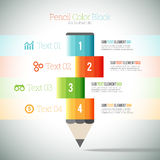 Pencil Color Block Infographic Royalty Free Stock Photos
