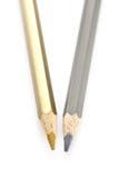 Pencil color gold silver Royalty Free Stock Photos