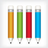 Pencil color  illustration Royalty Free Stock Image